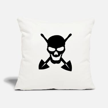 "Grave Grave digger - Throw Pillow Cover 18"" x 18"""