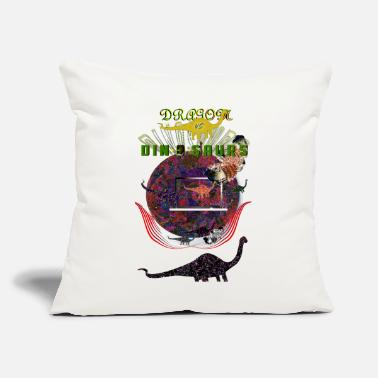 Dragon vs Dinosaurs - Throw Pillow Cover