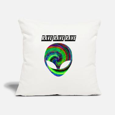"Rave rave rave rave - Throw Pillow Cover 18"" x 18"""