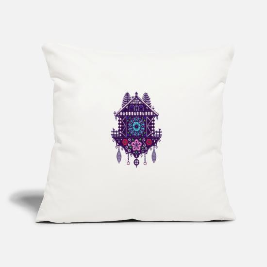 "Gift Idea Pillow Cases - Cuckoo Clock 6c - Throw Pillow Cover 18"" x 18"" natural white"