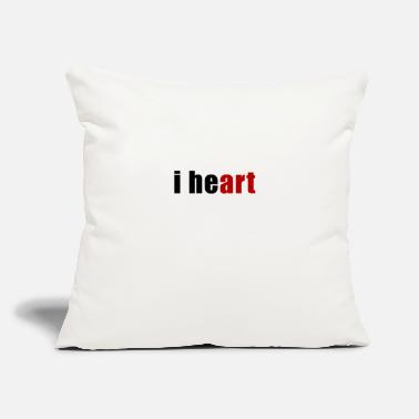 I Heart i heart Art Heart - Throw Pillow Cover