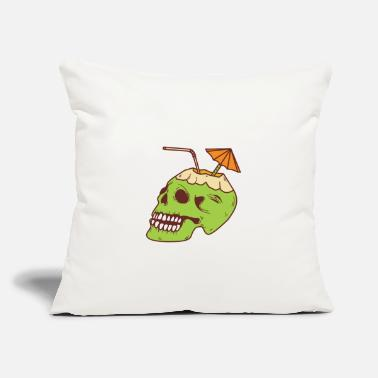 "Palm Trees Skull cocktail - Throw Pillow Cover 18"" x 18"""
