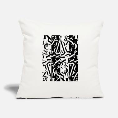 "Black And White black and white - Throw Pillow Cover 18"" x 18"""