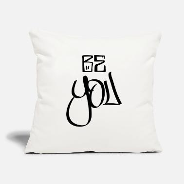 "Be You be you - Throw Pillow Cover 18"" x 18"""