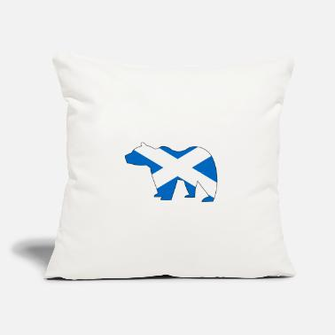 "Scottish Bear - Throw Pillow Cover 18"" x 18"""