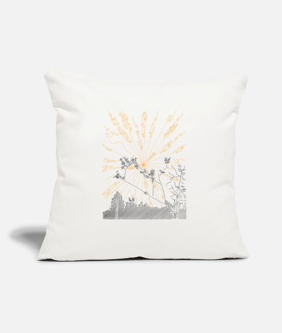 "Limbs Pillow Cases - Bright Rays - Throw Pillow Cover 18"" x 18"" natural white"