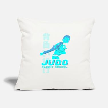 "Flight School JUDO FLIGHT SCHOOL - Throw Pillow Cover 18"" x 18"""