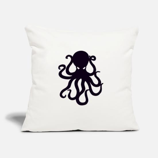 "Octopus Pillow Cases - octopus - Throw Pillow Cover 18"" x 18"" natural white"