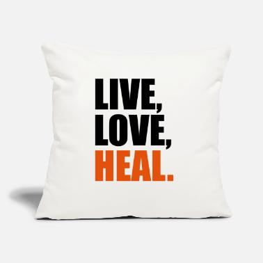 "Heal heal - Throw Pillow Cover 18"" x 18"""