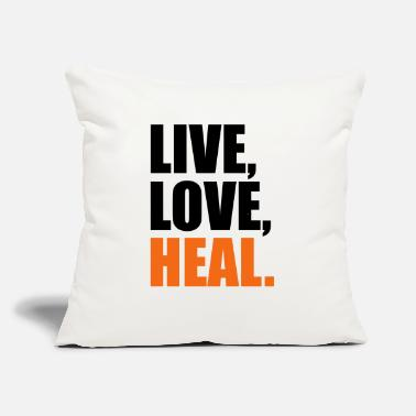 "Healing heal - Throw Pillow Cover 18"" x 18"""