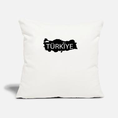 "Schwarz tuerkyje schwarz - Throw Pillow Cover 18"" x 18"""
