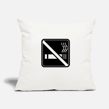 "Non-smoking non smoking - Throw Pillow Cover 18"" x 18"""