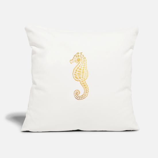 "Horse Pillow Cases - sea horse - Throw Pillow Cover 18"" x 18"" natural white"