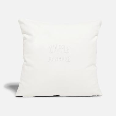 "Waffle A WAFFLE IS LIKE A PANCAKE WITH SYRUP - Throw Pillow Cover 18"" x 18"""