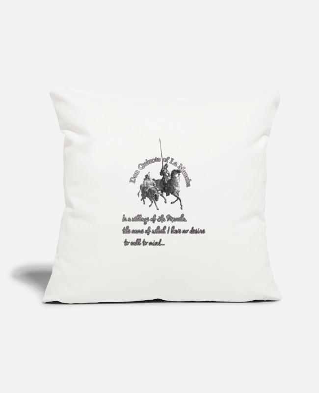 "Don Quijote Pillow Cases - Don quijote Gustave Doré - Throw Pillow Cover 18"" x 18"" natural white"