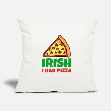 "St Patricks Day Pizza St Patricks Day - Throw Pillow Cover 18"" x 18"""