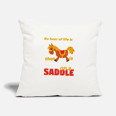 "Saddle Spend on a Saddle - Throw Pillow Cover 18"" x 18"""