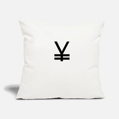 "Yen Yen money symbols - Throw Pillow Cover 18"" x 18"""