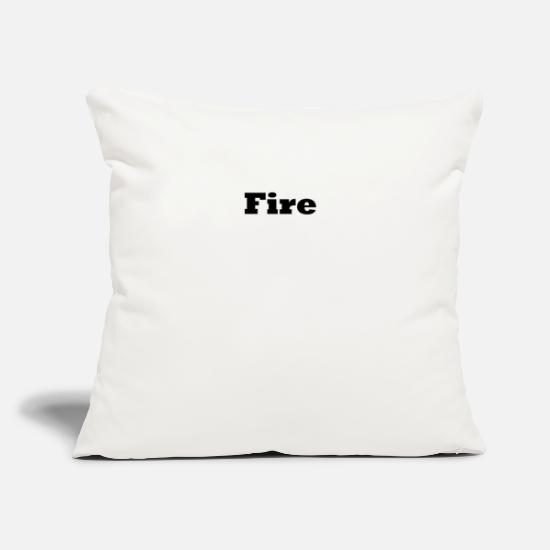 "Birthday Pillow Cases - Fire - Throw Pillow Cover 18"" x 18"" natural white"
