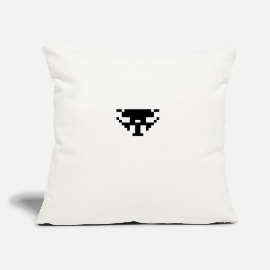 "Art Pillow Cases - Space Invader: 16-bit, short, slim UFO - Throw Pillow Cover 18"" x 18"" natural white"