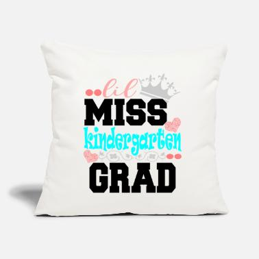 "Miss Lil Miss Kindergarten Grad - Throw Pillow Cover 18"" x 18"""