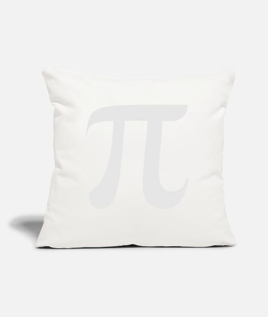 "Chernobyl Pillow Cases - pi day - Throw Pillow Cover 18"" x 18"" natural white"