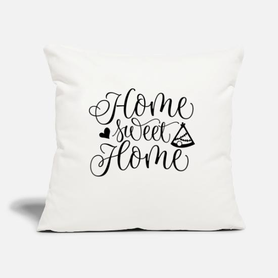 "Goodies Pillow Cases - HOME SWEET HOME - Throw Pillow Cover 18"" x 18"" natural white"