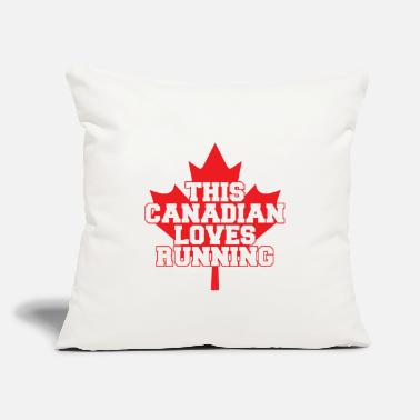 "Running Canadian loves Running - Throw Pillow Cover 18"" x 18"""