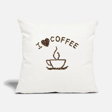 "Coffee Bean Coffee Beans - Throw Pillow Cover 18"" x 18"""