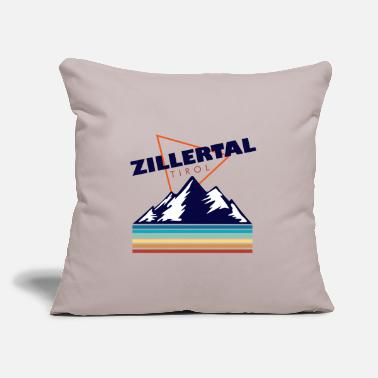 "Dialect Zillertal Tirol gift Austria Lederhose - Throw Pillow Cover 18"" x 18"""