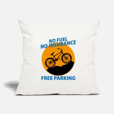 "Mountains No fuel no insurance free parking Fahrrad Bike - Throw Pillow Cover 18"" x 18"""