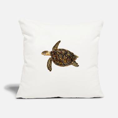 "Sea Hawksbill turtle - sea turtle - Throw Pillow Cover 18"" x 18"""