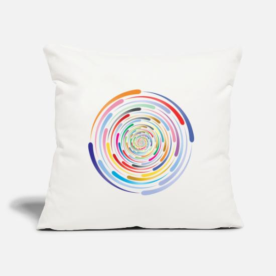 "Swirl Pillow Cases - maelstrom swirl - Throw Pillow Cover 18"" x 18"" natural white"