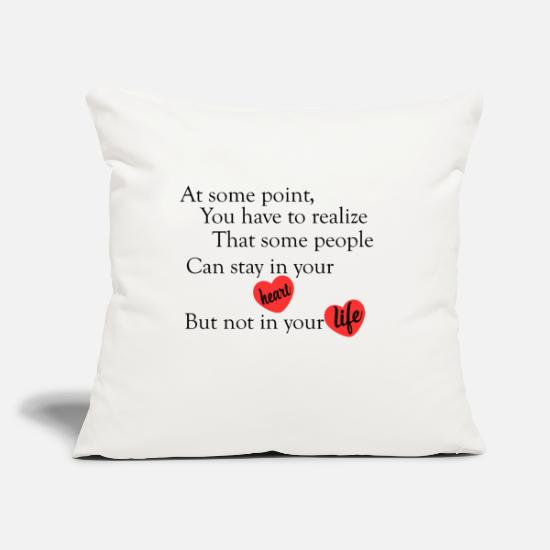 "Quotes Pillow Cases - love quotes cool - Throw Pillow Cover 18"" x 18"" natural white"
