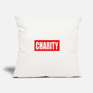 "Charity CHARITY - Throw Pillow Cover 18"" x 18"""