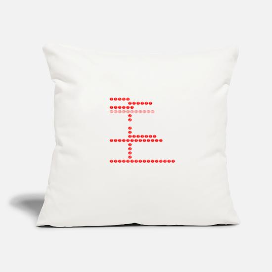 "Number Pillow Cases - numbers - Throw Pillow Cover 18"" x 18"" natural white"