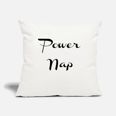 "Pillow Power Nap - Gifts for Writers Authors Creatives - Throw Pillow Cover 18"" x 18"""