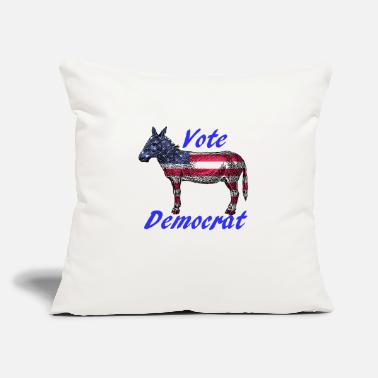 "Vote Democrat Vote Democrat - Throw Pillow Cover 18"" x 18"""
