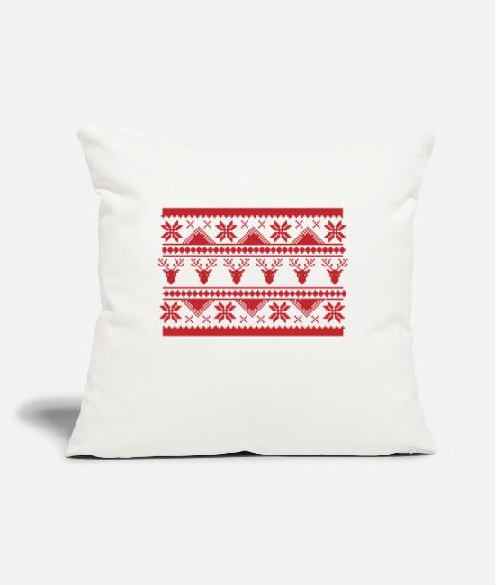 "Christmas Pillow Cases - Ugly Christmas Sweater - Throw Pillow Cover 18"" x 18"" natural white"