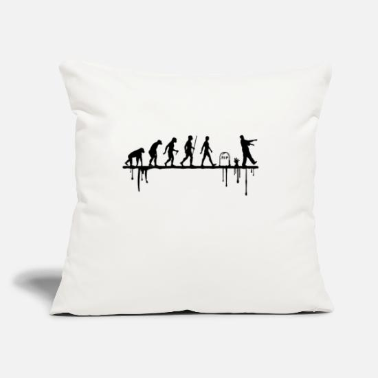 "Zombie Apocalypse Pillow Cases - Back to life - Throw Pillow Cover 18"" x 18"" natural white"