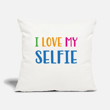 "Slogan slogan - Throw Pillow Cover 18"" x 18"""