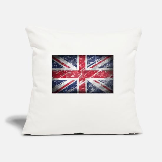 "England Pillow Cases - uk - Throw Pillow Cover 18"" x 18"" natural white"