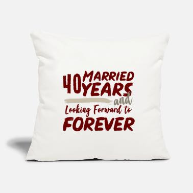 "Wedding Day 40. Wedding day - Throw Pillow Cover 18"" x 18"""