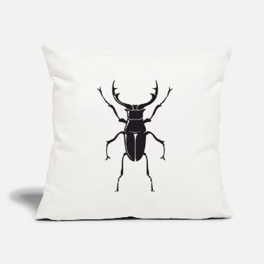 "Fat Large Stag Beetle - Insect - Throw Pillow Cover 18"" x 18"""