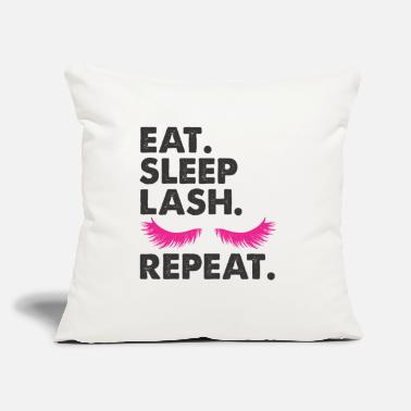 "Eye beauty eyelash party makeup birthday present - Throw Pillow Cover 18"" x 18"""