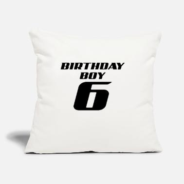 "Guys 6 years boy birthday present gift idea - Throw Pillow Cover 18"" x 18"""