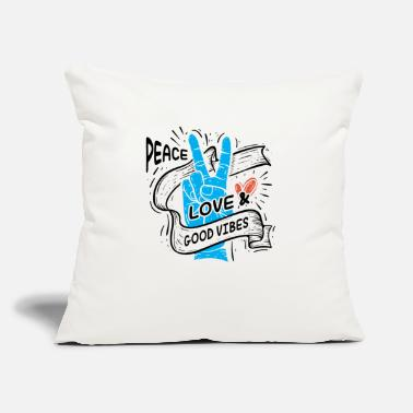 "Motto Peace Love Gift Birthday Christmas - Throw Pillow Cover 18"" x 18"""