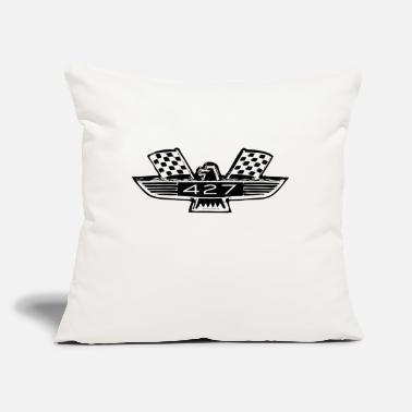 "427 badge - Throw Pillow Cover 18"" x 18"""