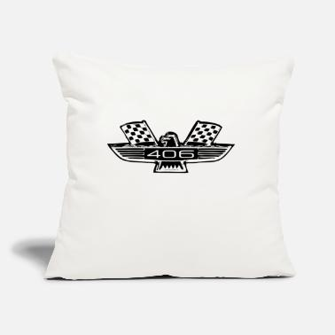 "406 badge - Throw Pillow Cover 18"" x 18"""