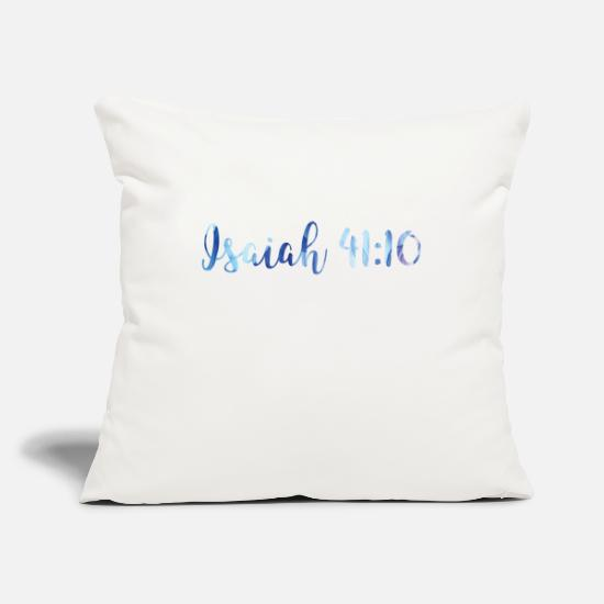 "Isaiah Pillow Cases - Isaiah 41:10 - Throw Pillow Cover 18"" x 18"" natural white"